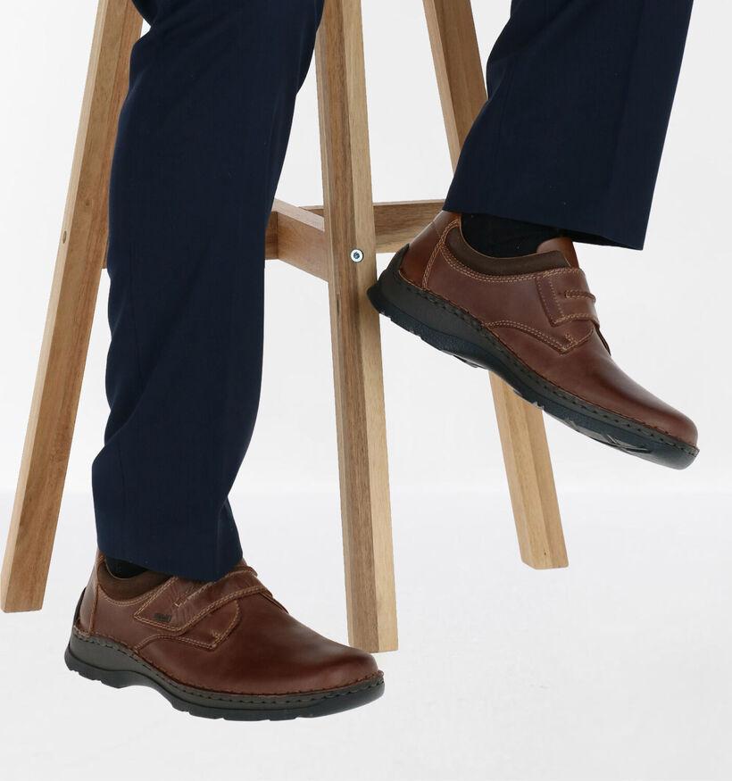 Rieker Chaussures basses en Brun foncé en cuir (281731)