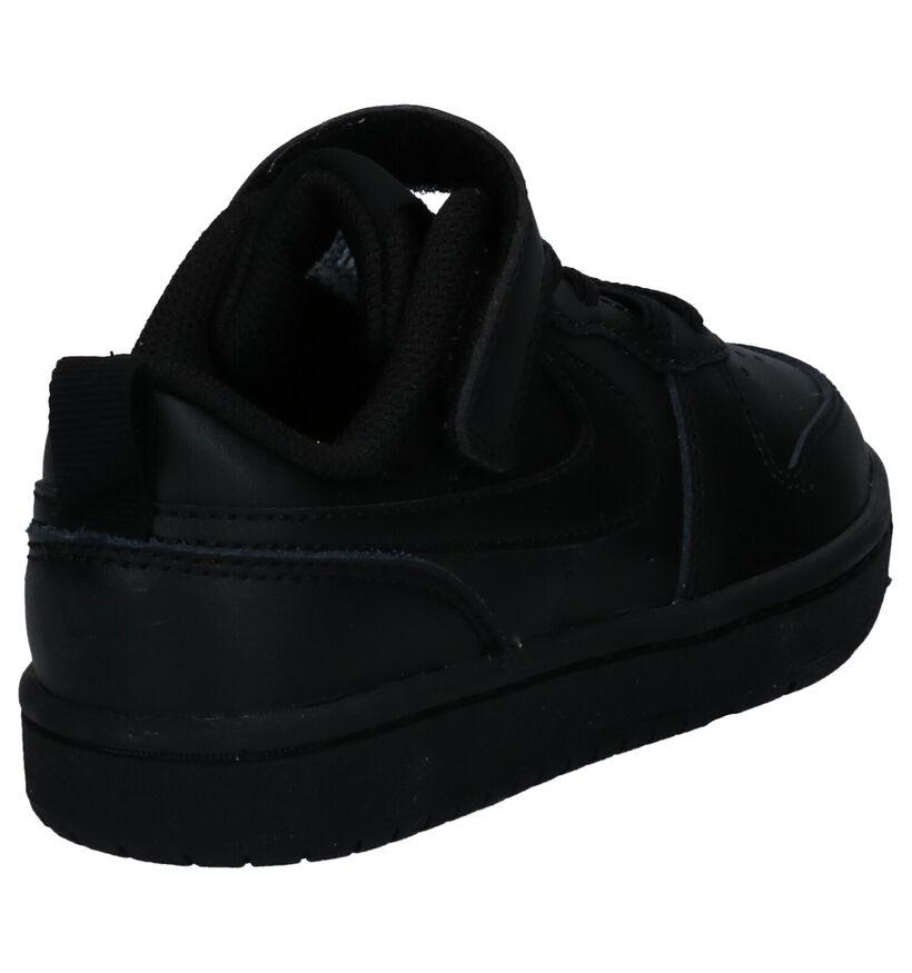 Nike Court Borough Low Witte Sneakers in kunstleer (274596)