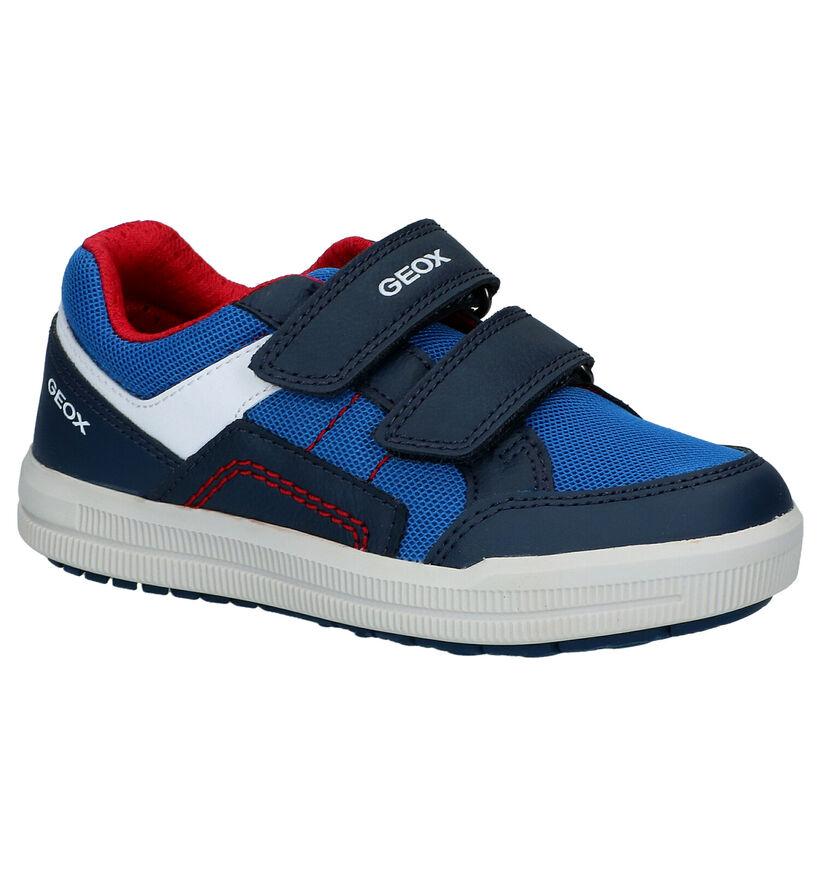Geox Arzach Chaussures à velcro en Bleu en simili cuir (287071)