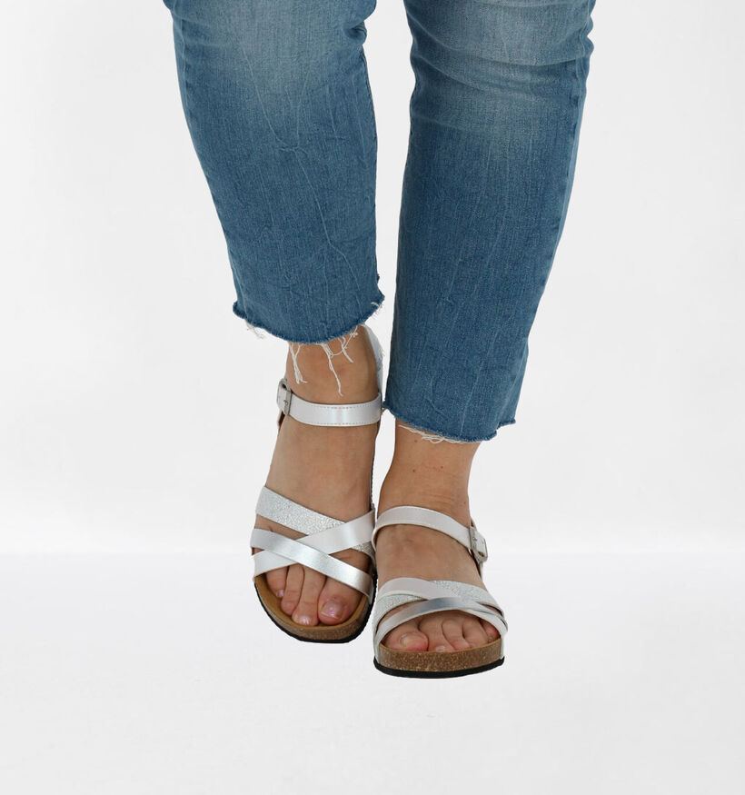 Big Leaf Sandales à talons en Blanc en simili cuir (239290)