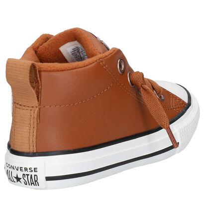 Converse Chuck Taylor All Star Street Mid Slip-on en Gris en simili cuir (252740)