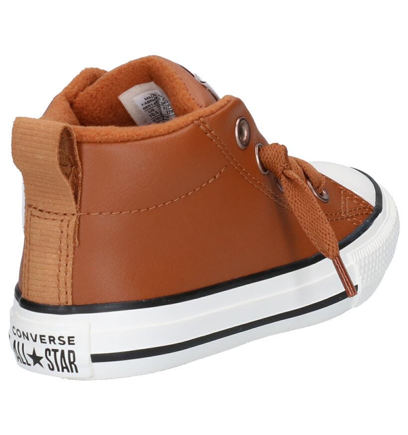 Chuck Taylor All Star Baskets hautes en Cognac en simili cuir (252739)