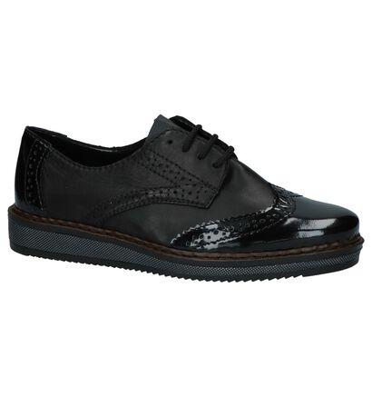 Rieker Chaussures à lacets en Noir en cuir (222543)