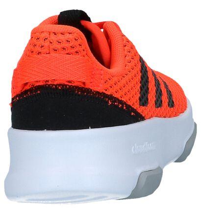 adidas Racer Baskets basses en Noir en textile (237014)