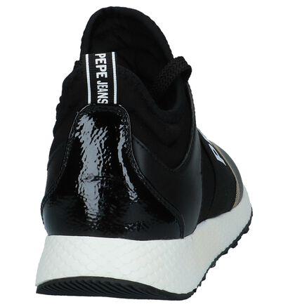Zwarte Slip-on Sneakers Pepe Jeans Koko Logo in kunstleer (225521)