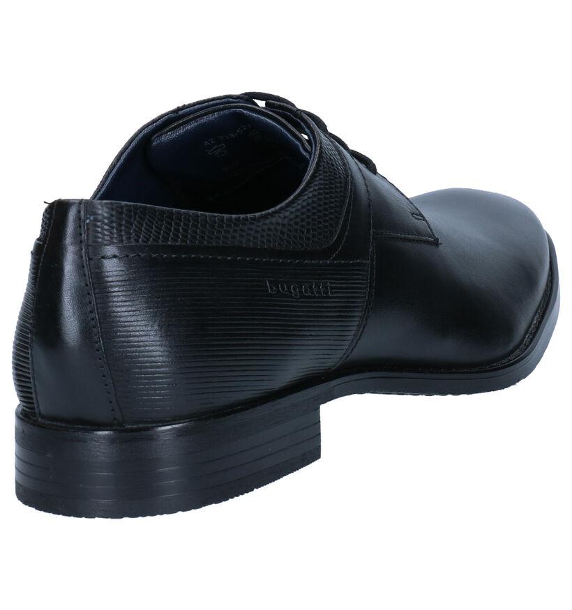 Bugatti Chaussures habillées en Noir en cuir (276746)
