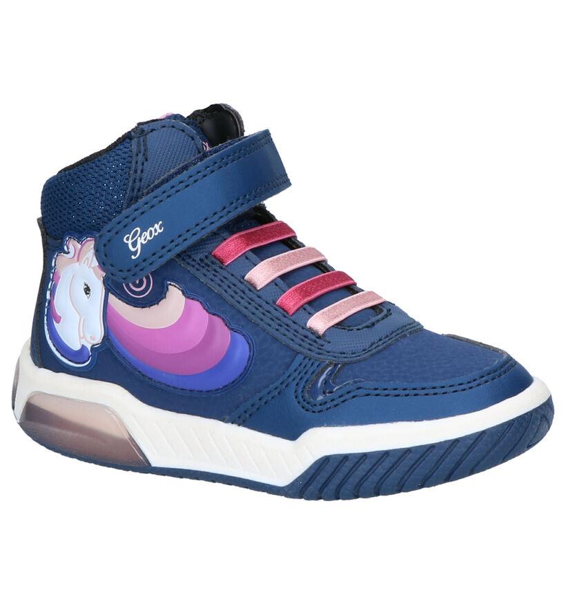 Geox Baskets hautes en Bleu foncé en simili cuir (254478)