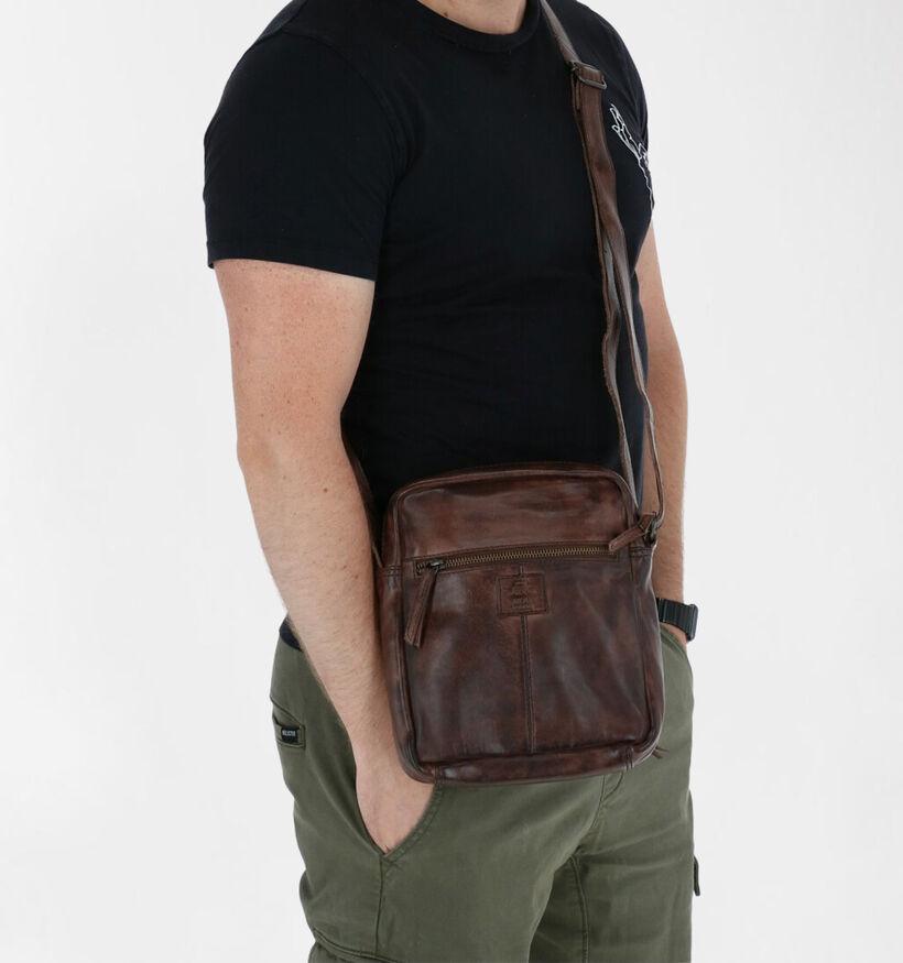Bear Design Sacs porté croisé en Noir en cuir (283606)
