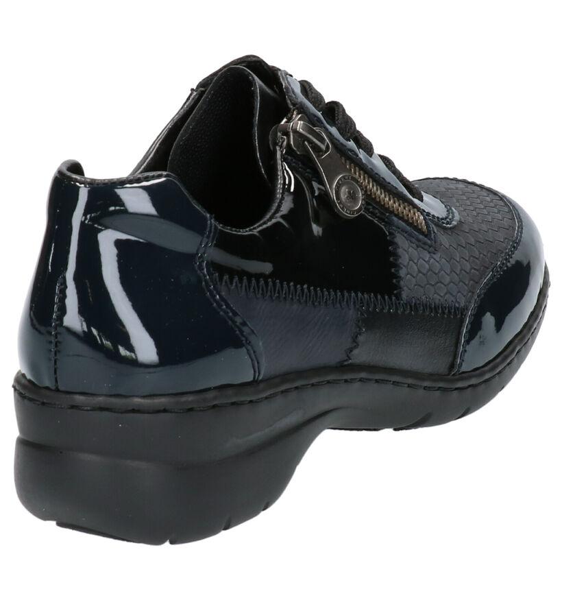 Rieker Chaussures à lacets en Bleu foncé en cuir (260575)