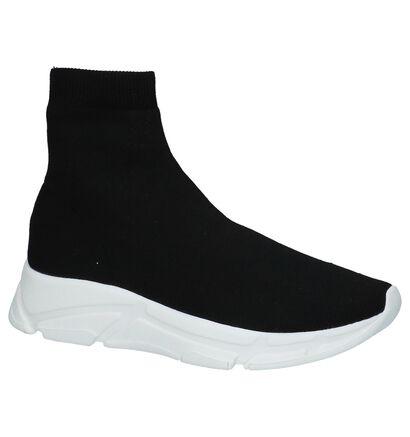 Steve Madden Bitten Zwarte Slip-on Sneakers in stof (225271)