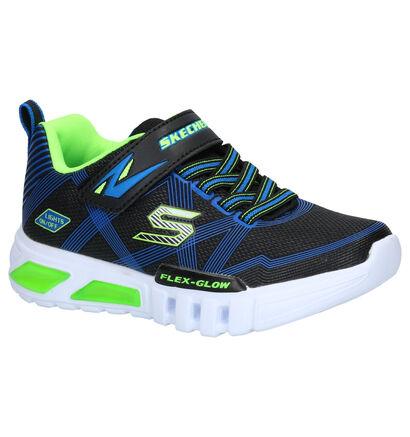 Skechers S Lights Zwarte Sneakers in stof (256239)