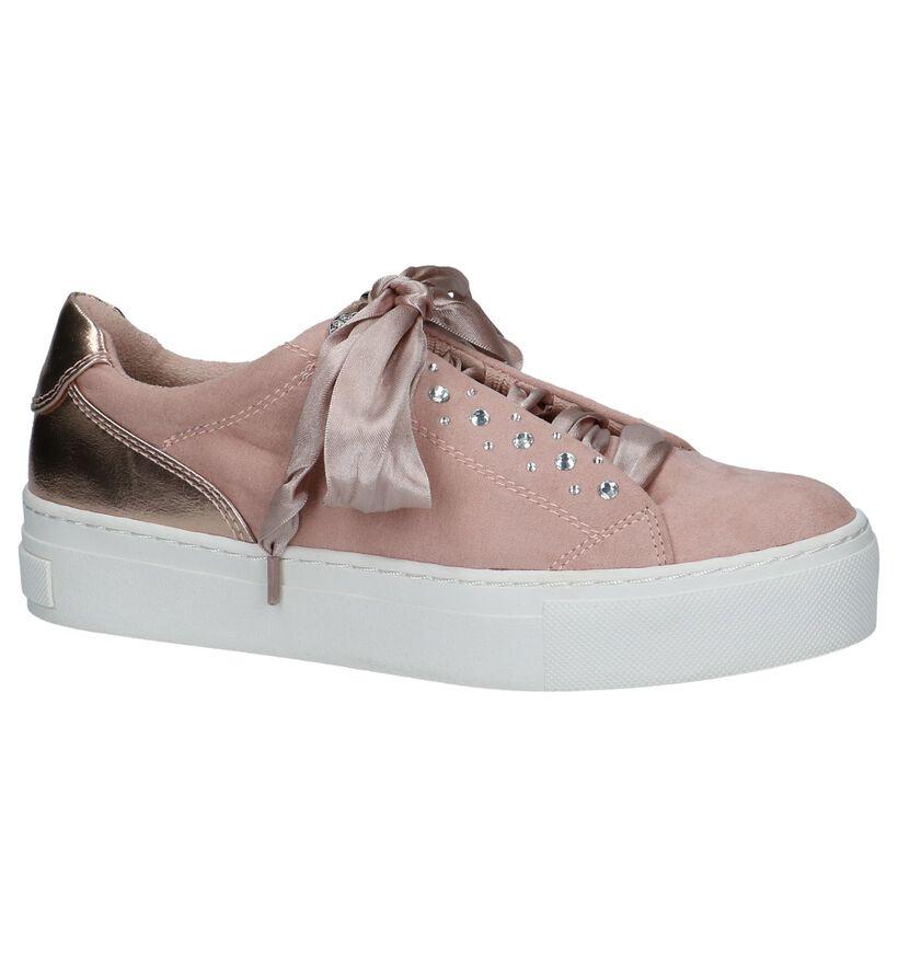 Youh! Chaussures à lacets en Rose foncé en textile (238105)