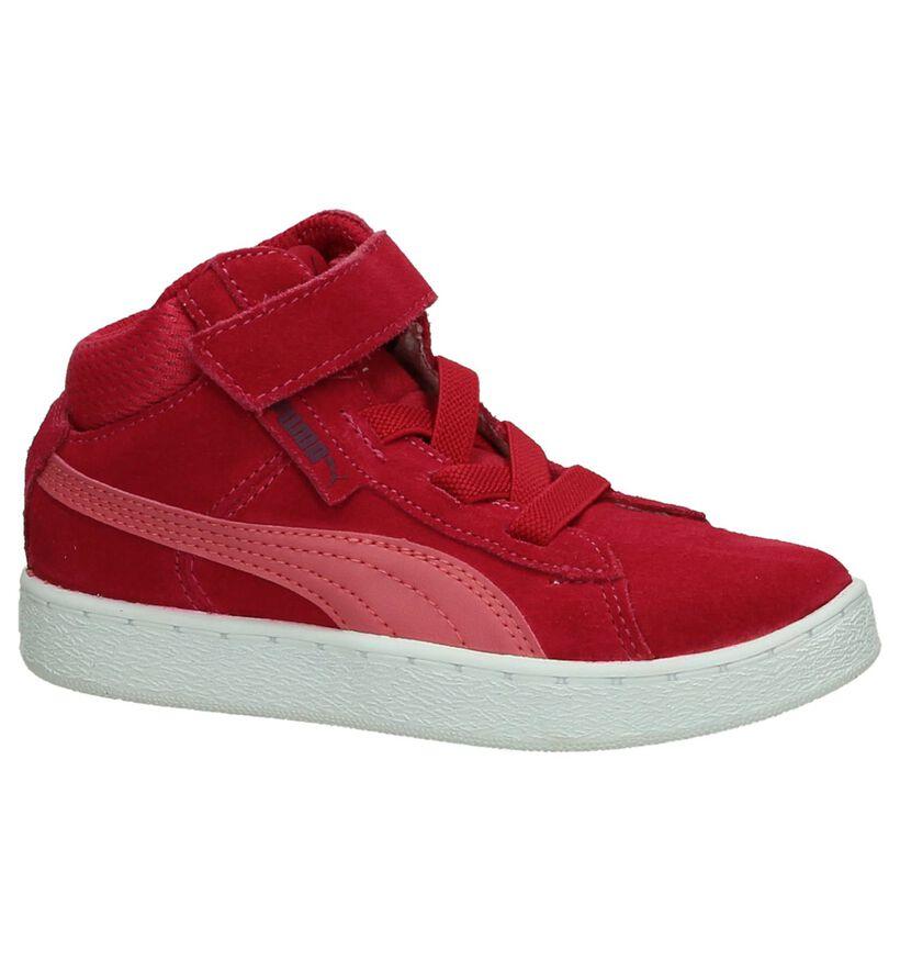 Puma Fuchsia Hoge Sneakers in daim (199791)