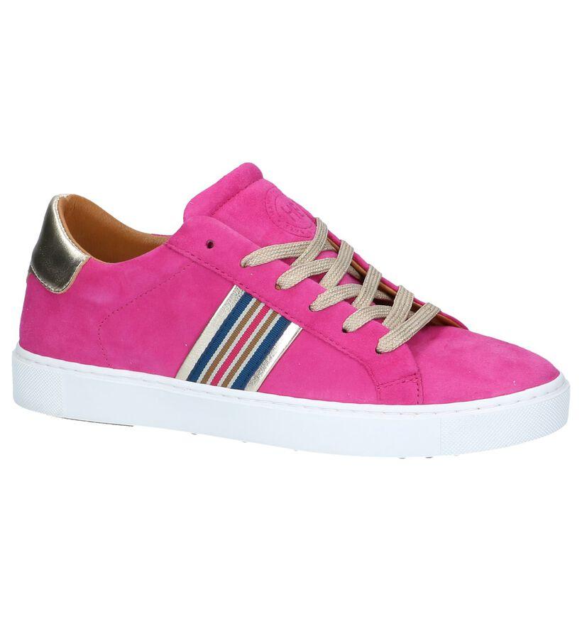 Hampton Bays Chaussures à lacets en Rose fuchsia en daim (239244)