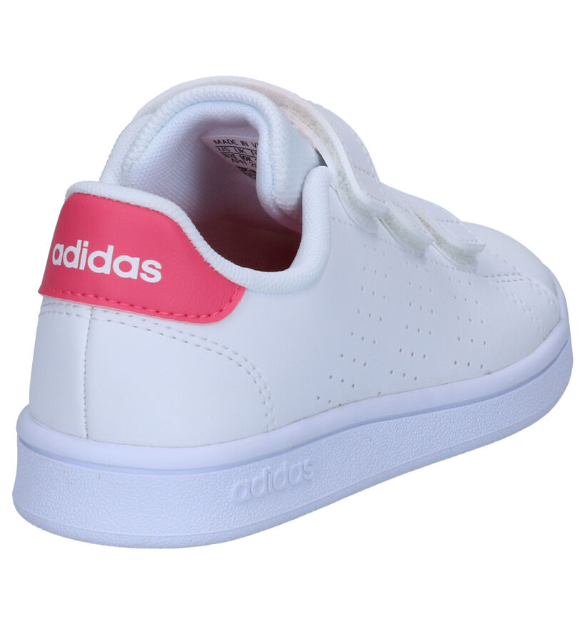 adidas Advantage Witte Sneakers in kunstleer (273502)