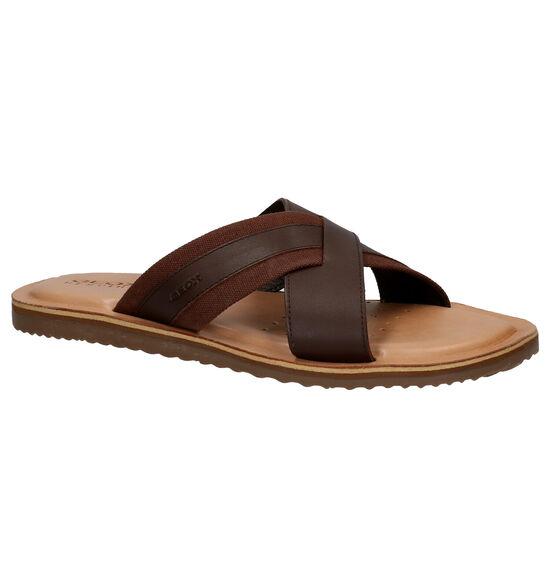 Geox Artie Bruine Slippers