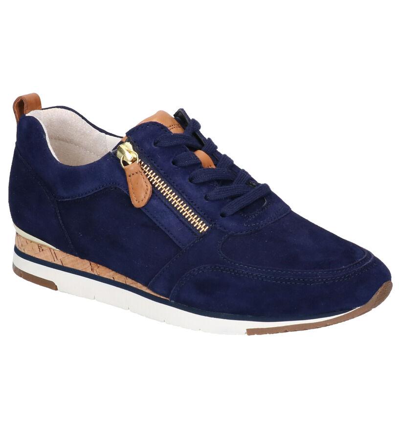 Gabor Best Fitting Chaussures à lacets en Bleu en daim (271533)