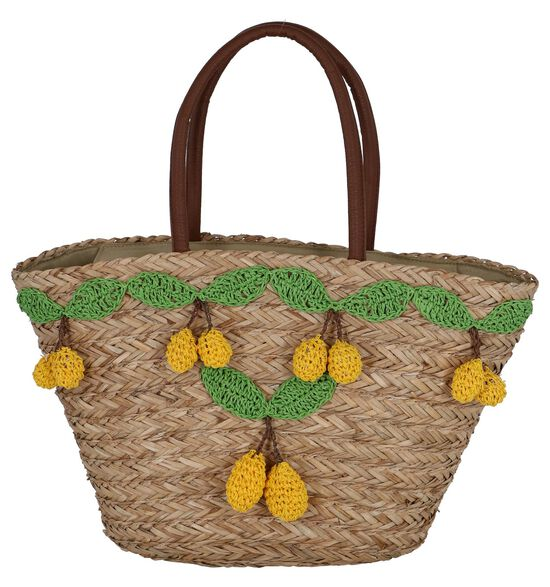 Gele Strandtas Pia Rossini Limonetta Basket