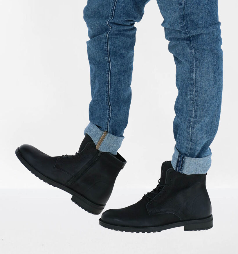 Bullboxer Chaussures hautes en Noir en nubuck (281790)