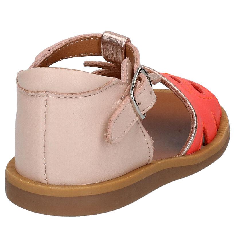 Pom d'Api Poppy Agrume Roze Sandalen in leer (268794)