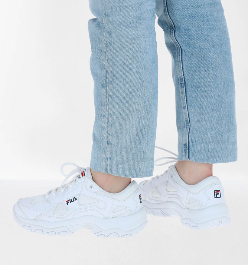 Fila Select Low Baskets en Blanc en simili cuir (275055)
