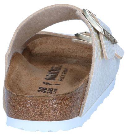 Witte Slippers Birkenstoch Arizona in kunstleer (242502)