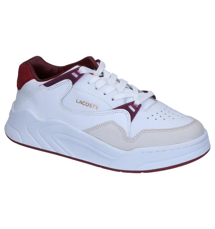 Lacoste Court Slam Witte Sneakers in leer (253448)