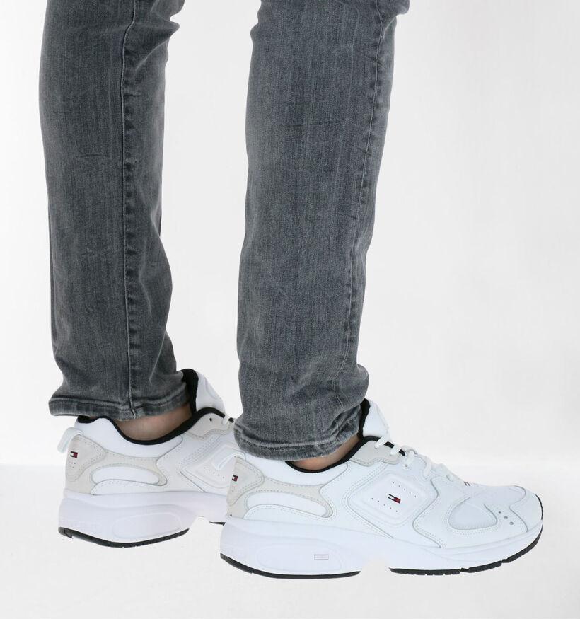 Tommy Hilfiger Heritage Tommy Jeans Witte Sneakers in kunstleer (276274)