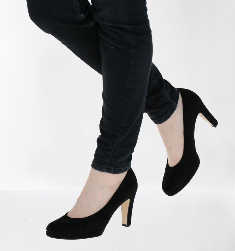 Gabor Soft & Smart Zwarte Pumps in kunstleer (282350)