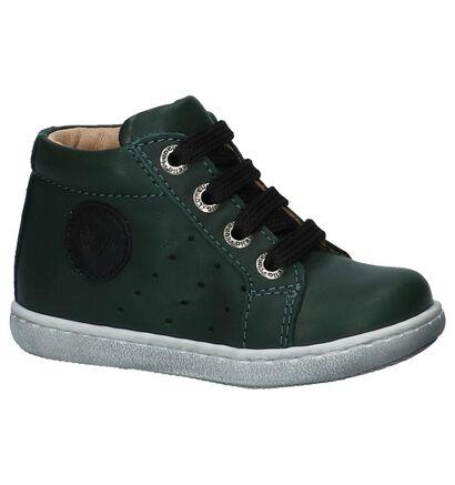 Lunella Chaussures hautes en Vert foncé en cuir (226974)