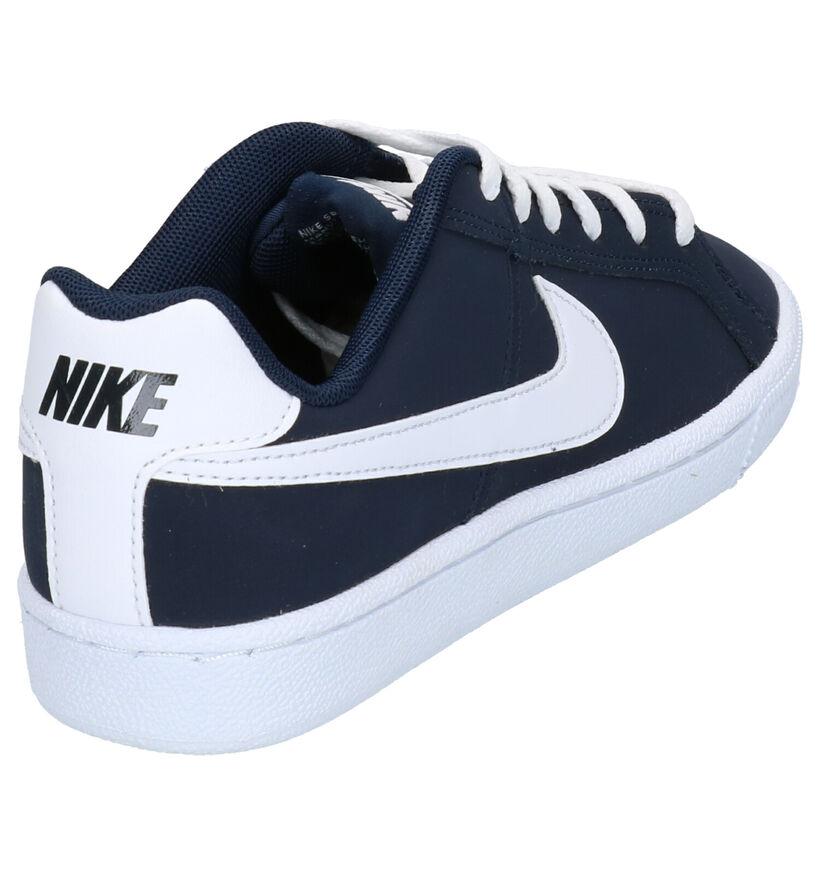 Nike Court Royale Baskets en Bleu en cuir (254052)