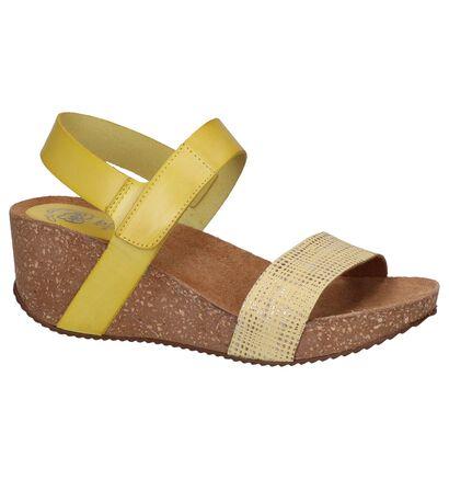 Gele Sandalen Hee in leer (244428)