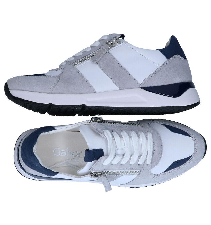 Gabor OptiFit Witte Sneakers in leer (287985)