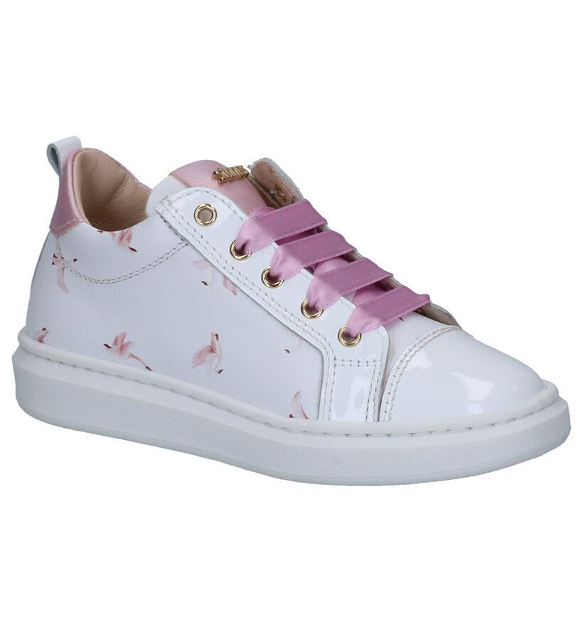 STONES and BONES Realt Chaussures à Lacets en Rose en cuir (267256)