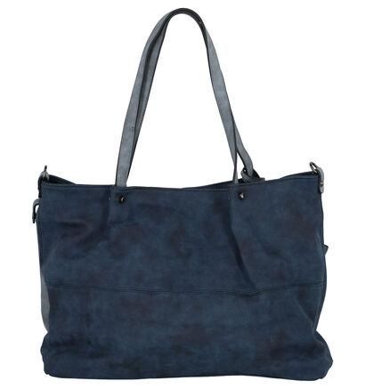 Emily & Noah Donkerblauwe Bag in Bag Shopper in imitatieleer (260913)