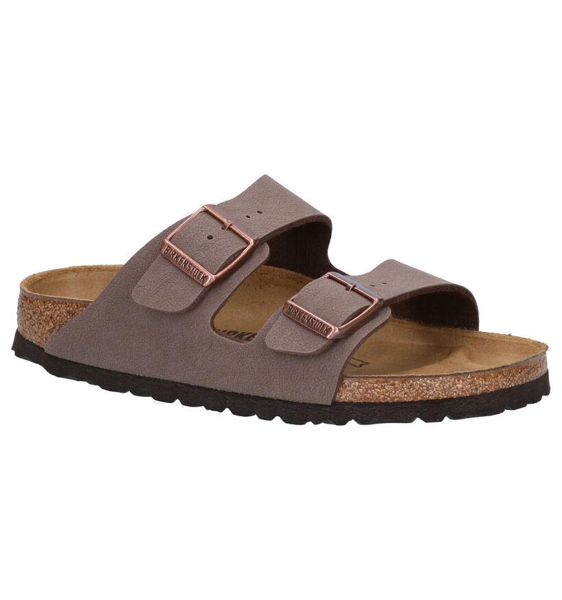 Birkenstock Arizona Nu-pieds en Marron en simili cuir (271827)