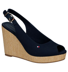 Tommy Hilfiger Icona Rode Sandalen in stof (268381)