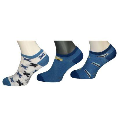 Blauwe Enkelsokken S. Oliver - 5 Paar, Blauw, pdp
