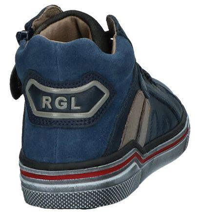 Romagnoli Donkerblauwe Boots met Rits & Veters in leer (232247)