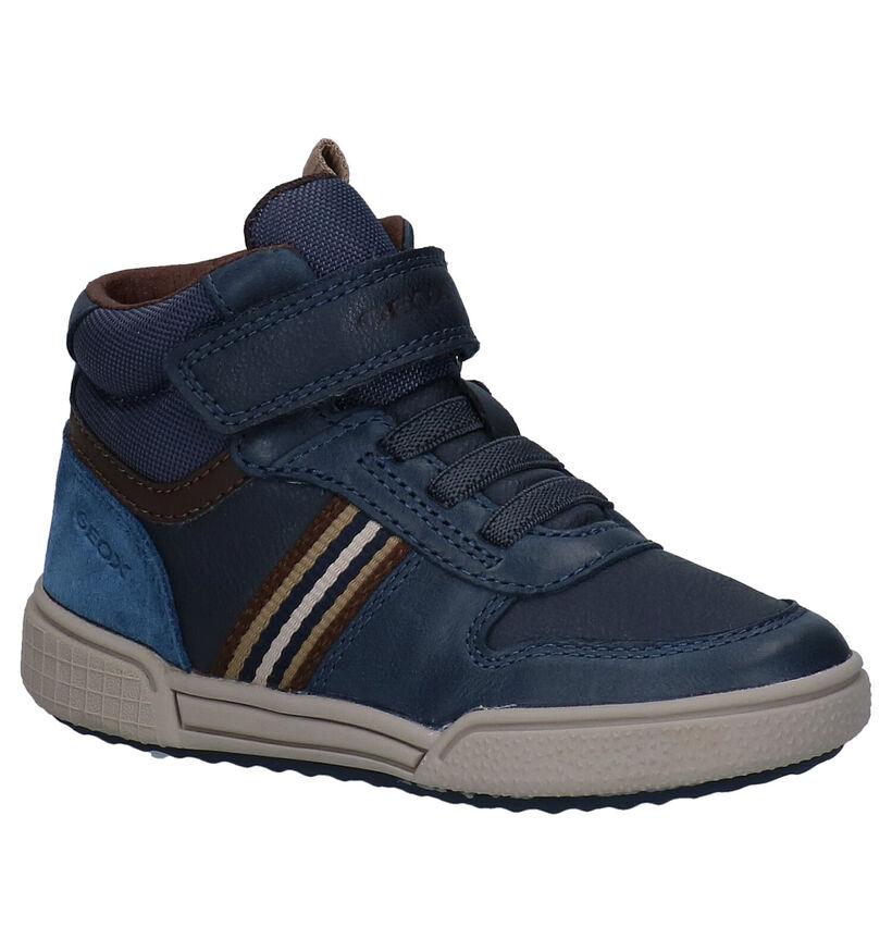Geox Poseido Blauwe Hoge Schoenen in leer (278310)