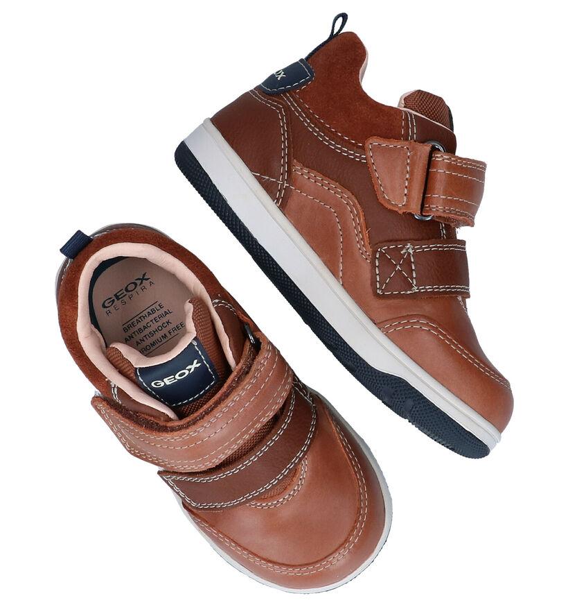 Geox Chaussures pour bébé  en Cognac en cuir (278316)