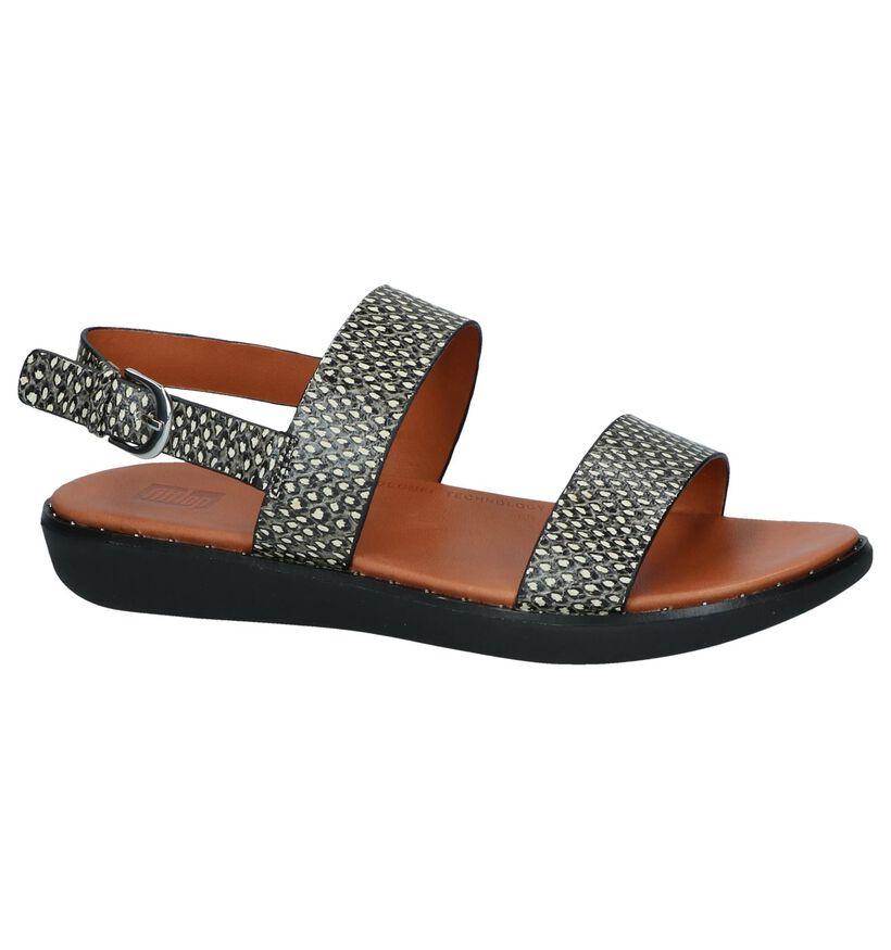 FitFlop Sandales plates en Noir en cuir (240129)