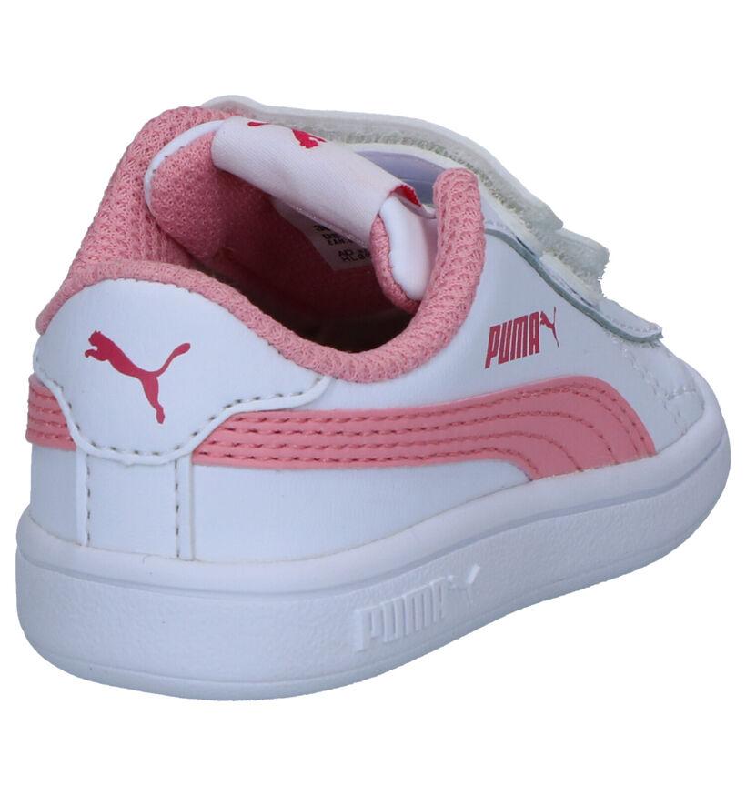 Puma Smash Witte Sneakers in kunstleer (265619)