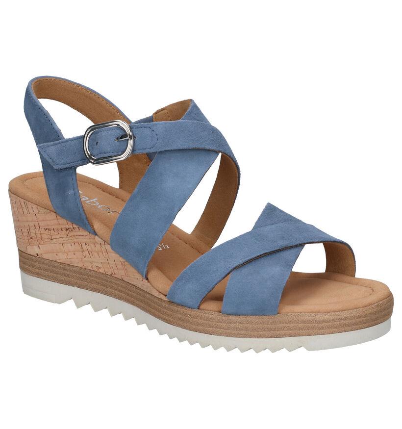 Gabor Sandales en Bleu en nubuck (271736)
