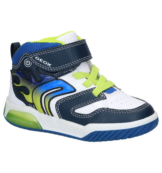 Geox Inek Blauw/Witte Hoge Sneakers
