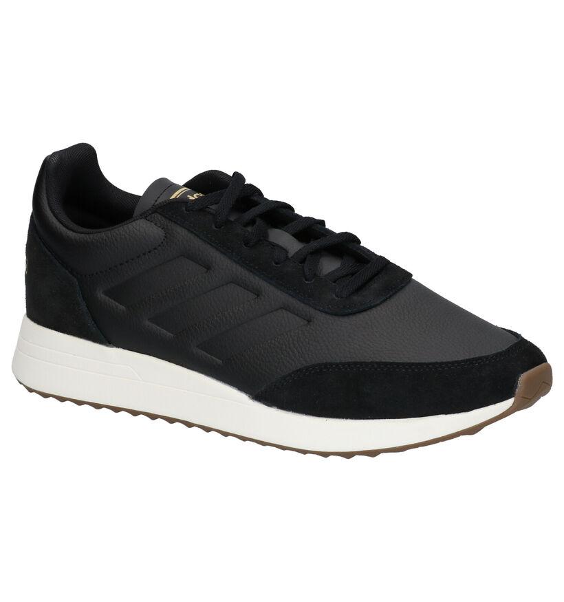 adidas RUN 70S Zwarte Sneakers in kunstleer (261830)