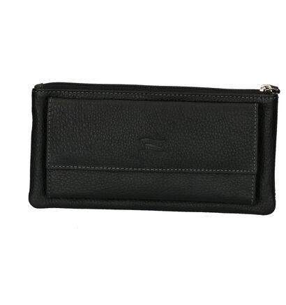 Crinkles Porte-monnaies à fermeture à glissière en Noir en cuir (237372)