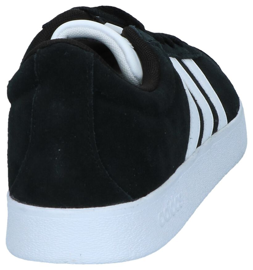 adidas VL Court 2.0 Zwarte Sneakers in kunstleer (237225)