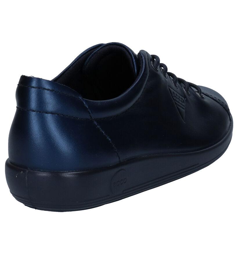 ECCO Soft 2.0 Chaussures à lacets en Blanc en cuir (287283)