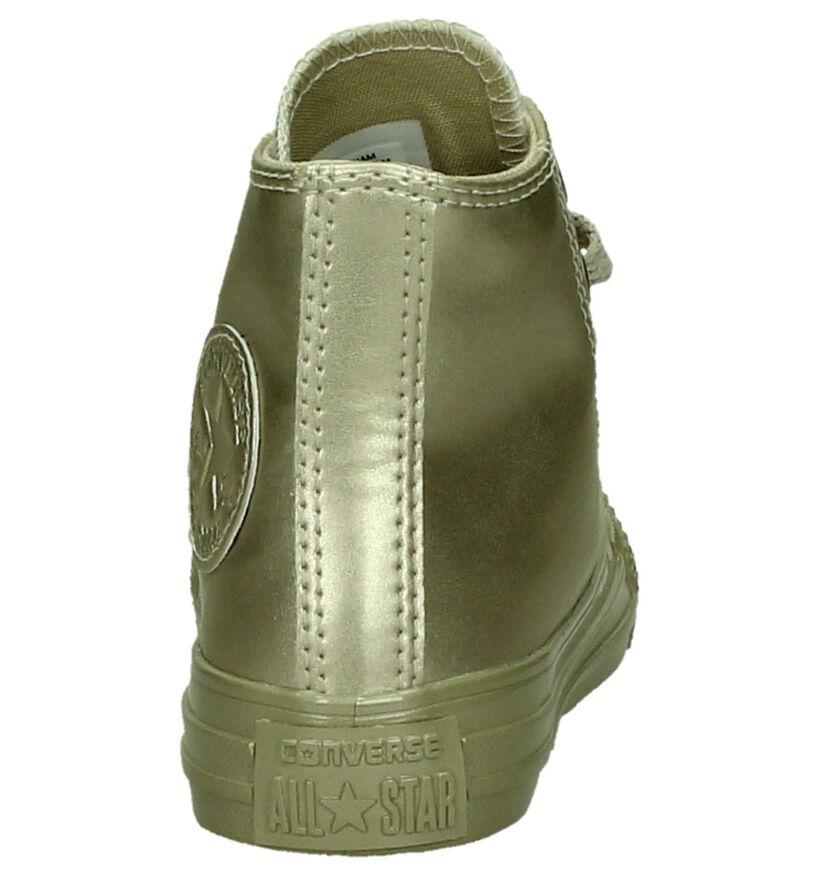 Gouden Sneakers Converse Chuck Taylor All Star High in kunstleer (200201)